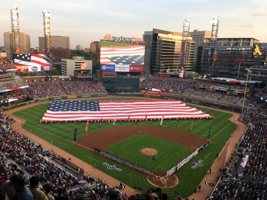Atlanta+Braves+at+home+on+Opening+Day+