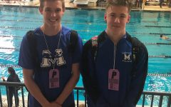Parker Cantrell and Coy Davis in St. Peters Mo for State Swimming.