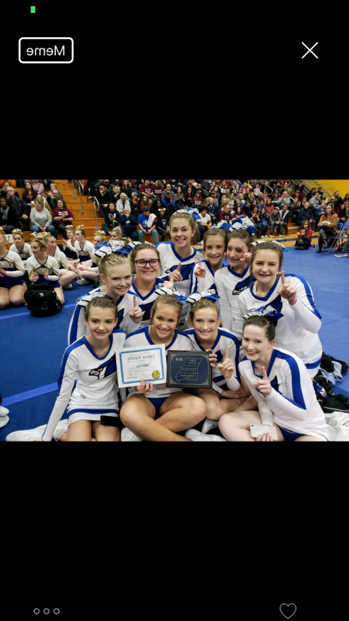 The+JV+cheer+squad+found+out+they+got+first+place.+