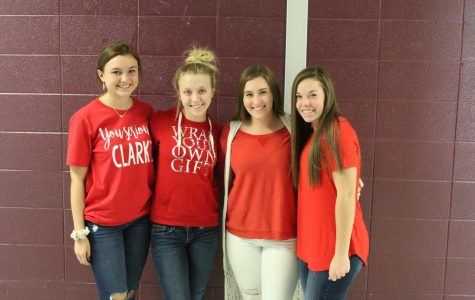 Students dressed as candy canes for the first spirit day of the week!