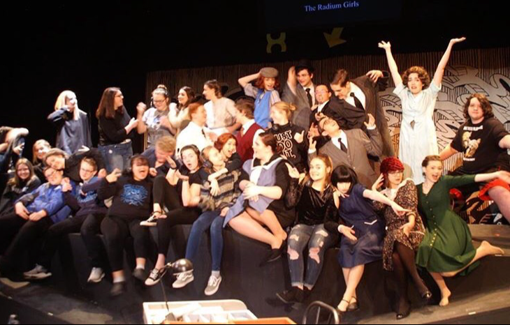 All the members of the play got together to take one last picture as a full cast.